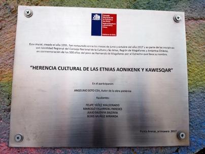 """""""Herencia cultural de las etnias Aonikenk y Kaweskar"""" (Mural) [Julio]"""