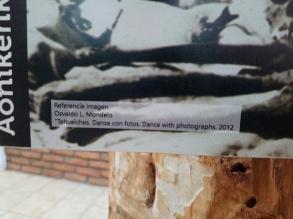 "Referencia al libro ""Tehuelches danza con fotos"", Museo Histórico Municipal [Julio]"