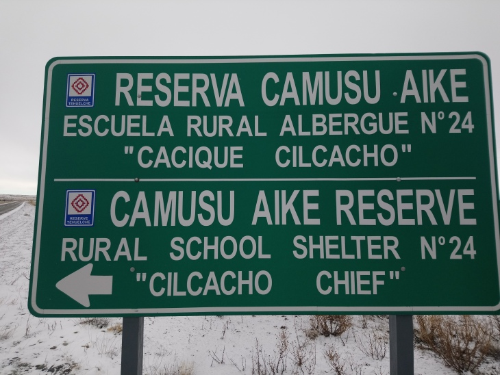 Camusu Aike Reserva, Reserva Tehuelche [Julio]